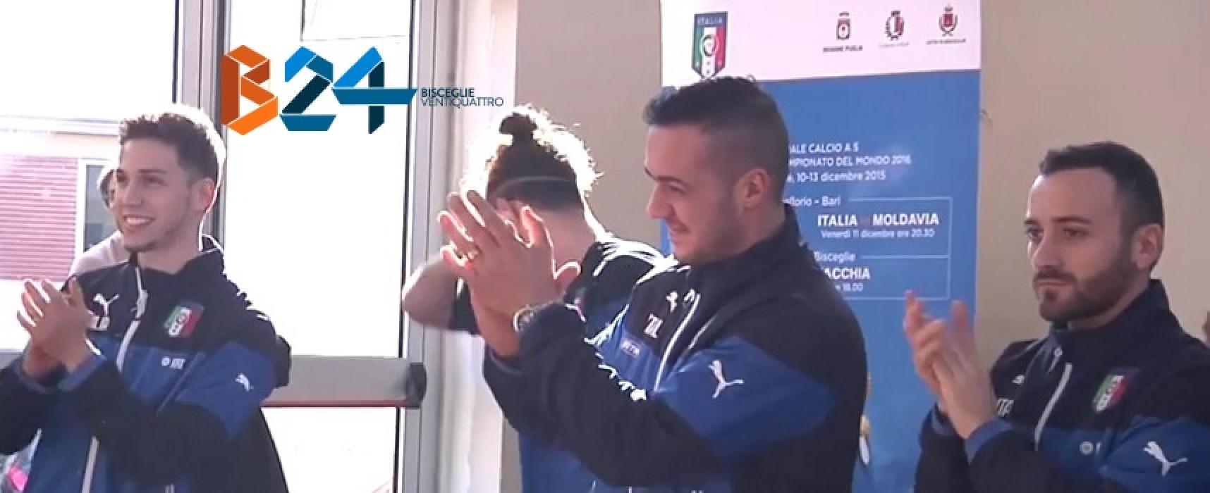 Bisceglie si colora d'azzurro, oggi al PalaDolmen l'Italia del futsal affronta la Slovacchia/VIDEO