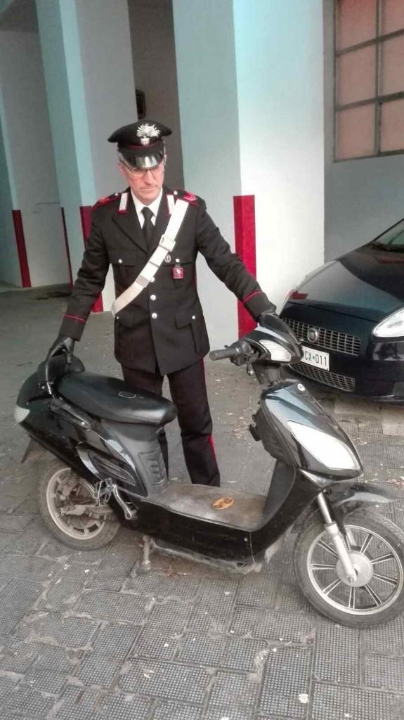 Bisceglie lo scooter utilizzato per la fuga