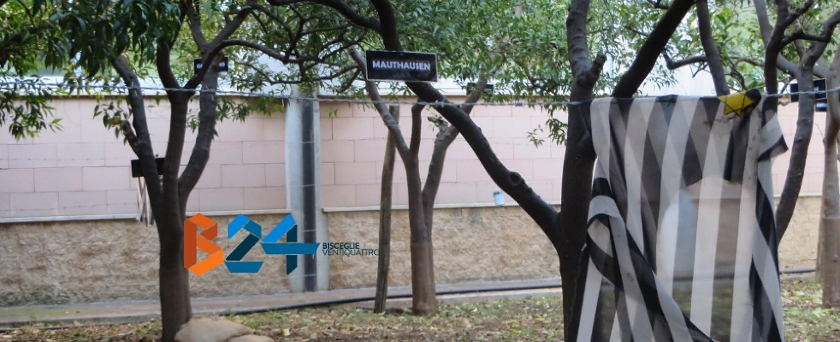 """Giardino della Memoria: la scuola media """"Riccardo Monterisi"""" ricorda le vittime dell'Olocausto / FOTO"""