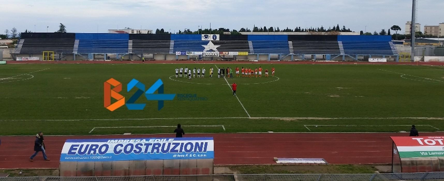 """Tra Unione Calcio e Bitonto scialbo 0-0 al """"Ventura"""""""