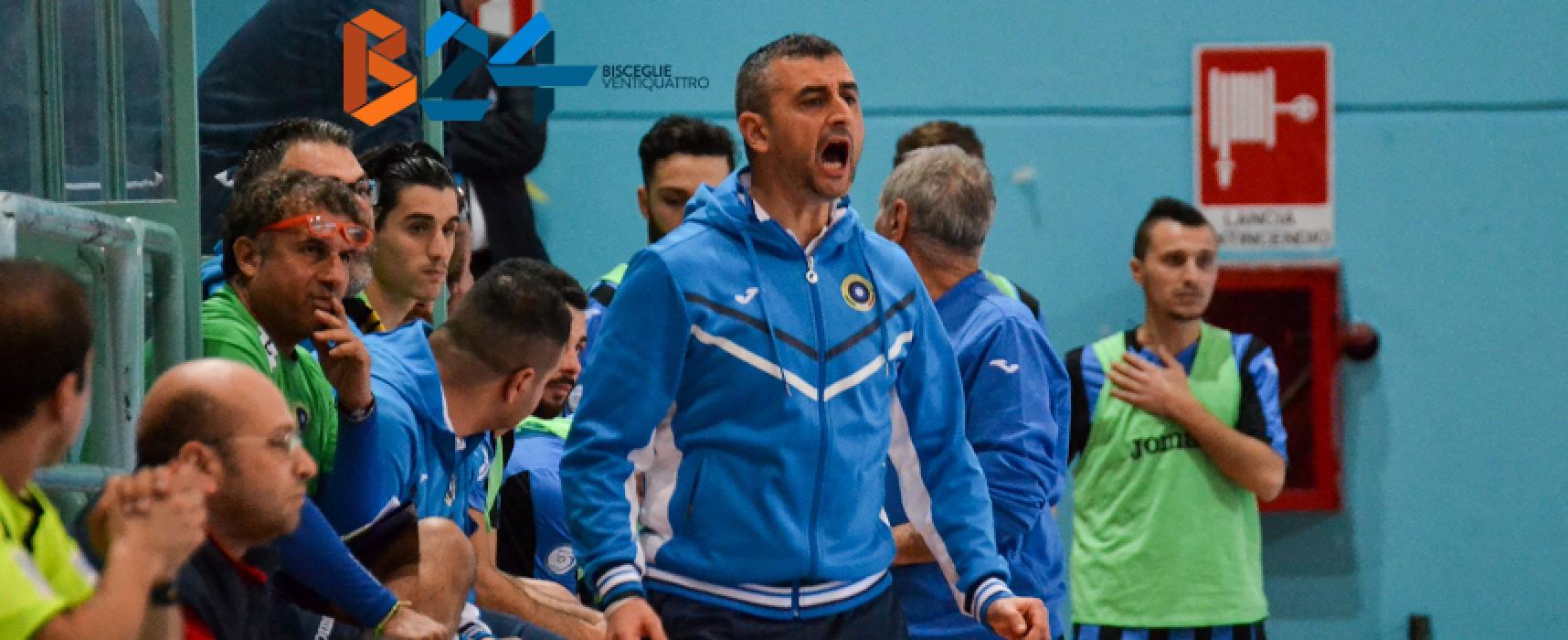"""Futsal Bisceglie, mister Ventura: """"Lavorato bene in settimana, sabato svanito tutto""""/VIDEO"""