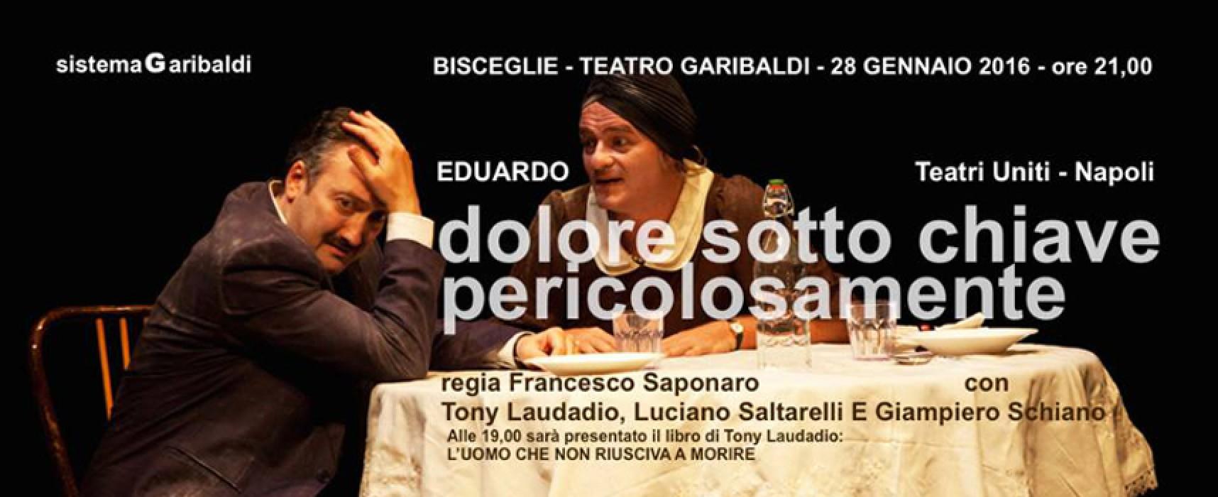 Il teatro di Eduardo al Garibaldi, giovedì due commedie con protagonista Tony Laudadio