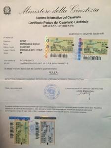 Certificato penale SPINA