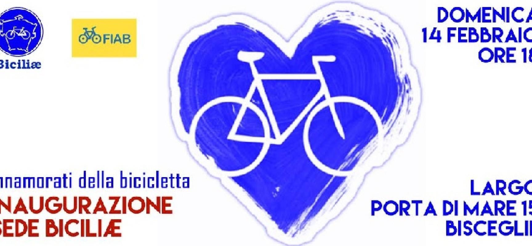 """""""A San Valentino innamorati della bicicletta"""", Biciliae oggi inaugura la sua nuova sede"""