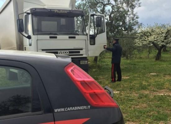 Ritrovato il camion rubato all'azienda su via Sant'Andrea