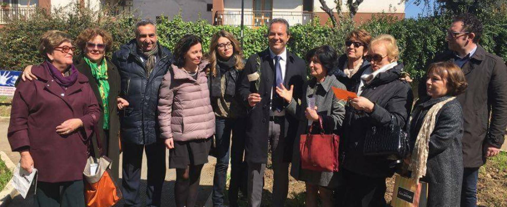 Fidapa pianta un ulivo in piazza 8 marzo per omaggiare le donne