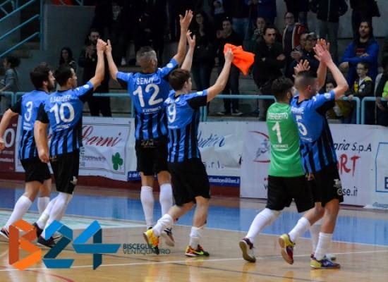 Futsal Bisceglie: la corsa continua, eliminato il Cisternino