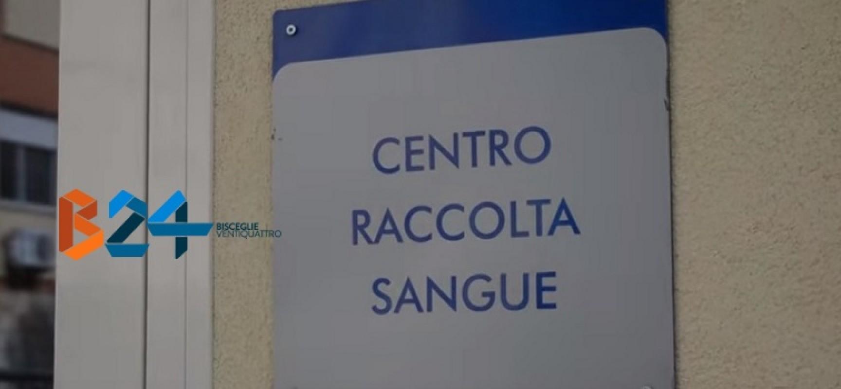 Domenica donazione straordinaria Avis Bisceglie al Centro Trasfusionale