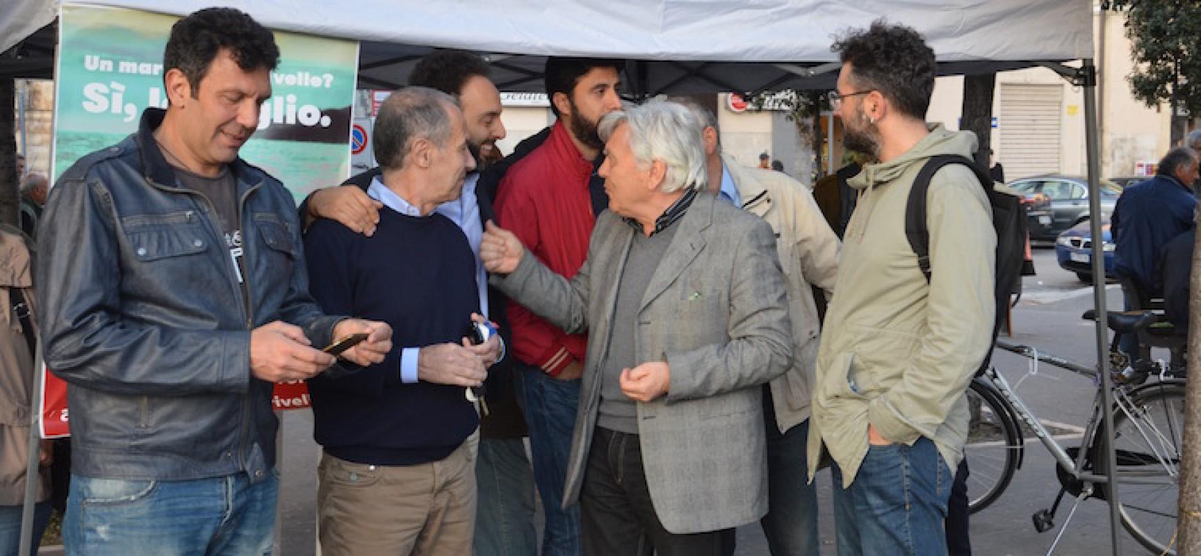 """Trivelle, Sinistra Italiana in piazza. Santorsola: """"Bruttura invitare all'astensione, i petrolieri vanno controllati"""""""