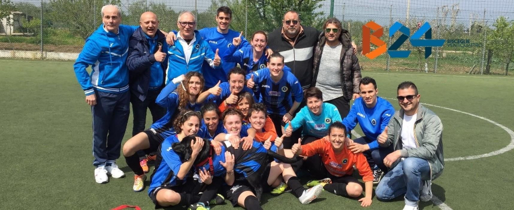 Calcio a 5: Il Futsal Bisceglie femminile vince il campionato regionale, ora testa alla Coppa Italia
