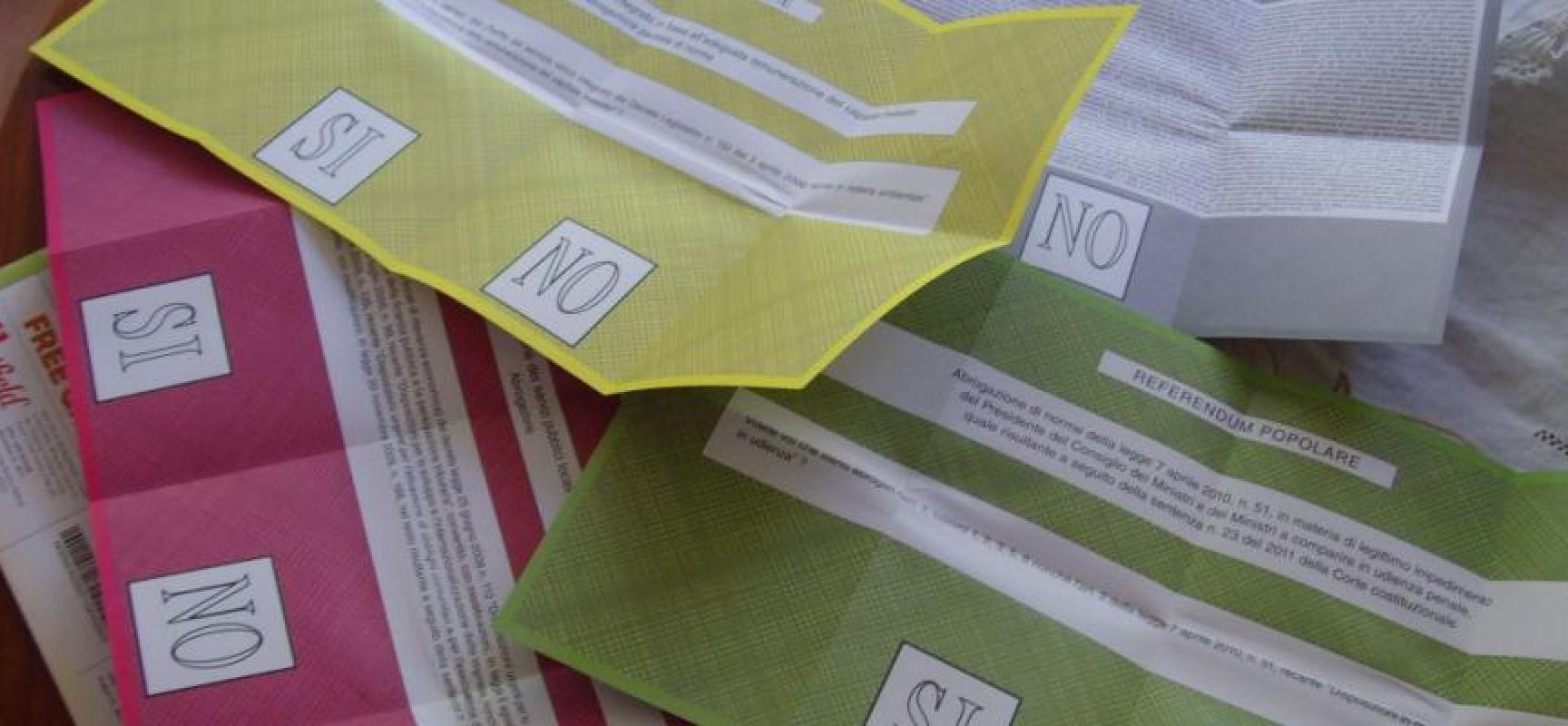 Referendum: non superato il quorum a livello nazionale, affluenza a Bisceglie del 39,5%