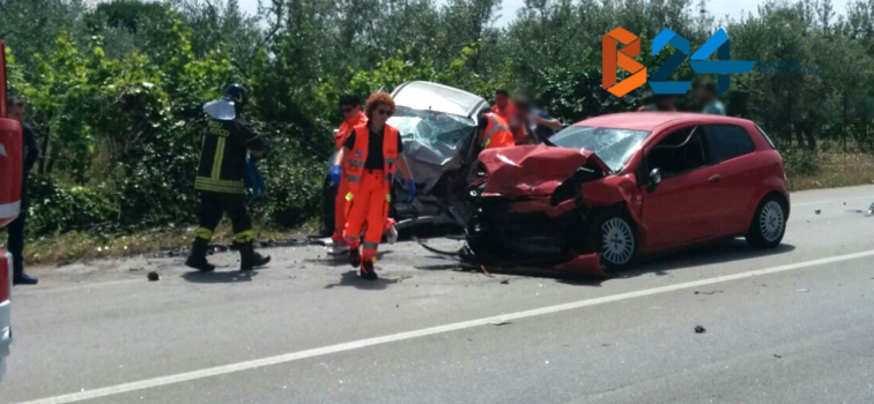 Grave incidente sulla Bisceglie-Andria: morto un giovane andriese, feriti coniugi biscegliesi