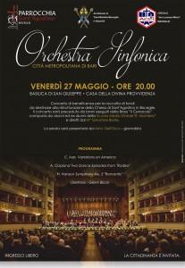 Locandina concerto di beneficenza Sant'Agostino