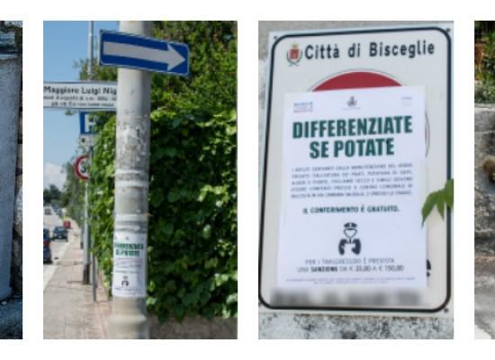 """Invasione di locandine """"pro riciclo"""" sulla litoranea di ponente: affissione selvaggia? / FOTO"""