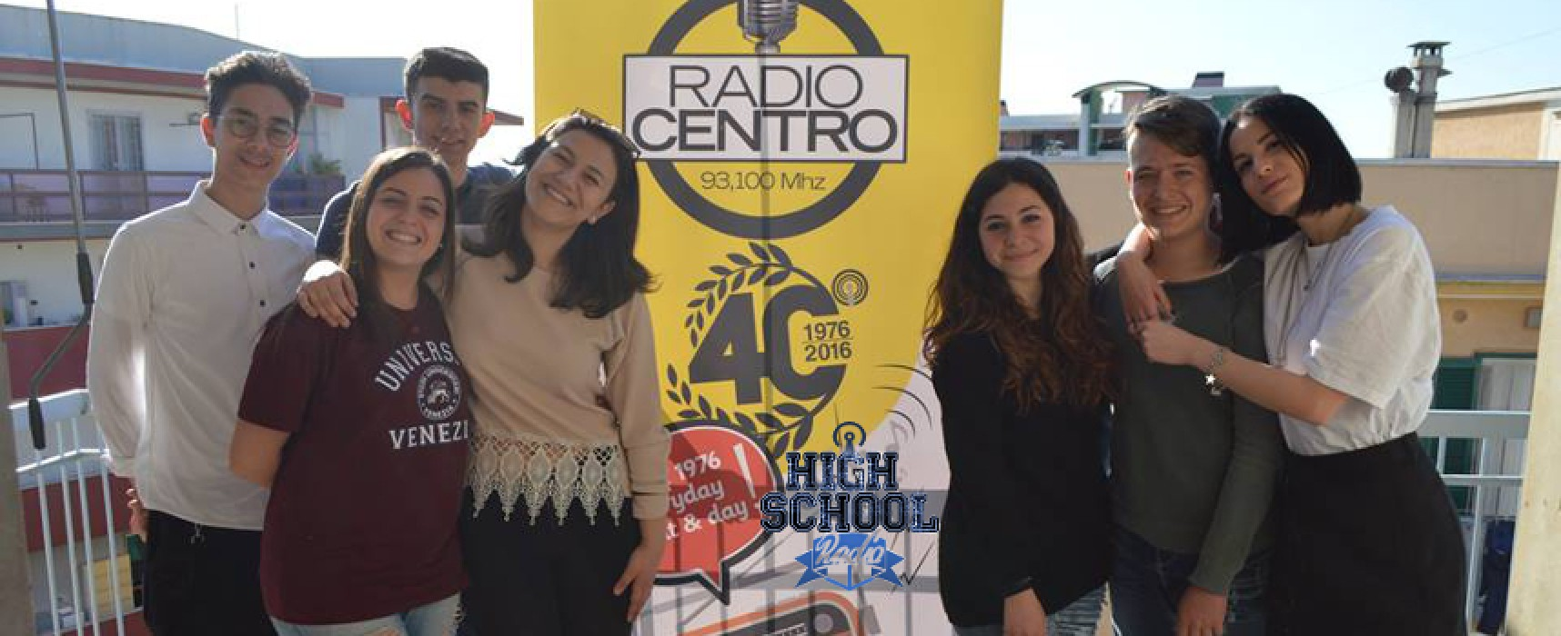 Il sindaco Francesco Spina ospite dei ragazzi dell'High School Radio su Radio Centro