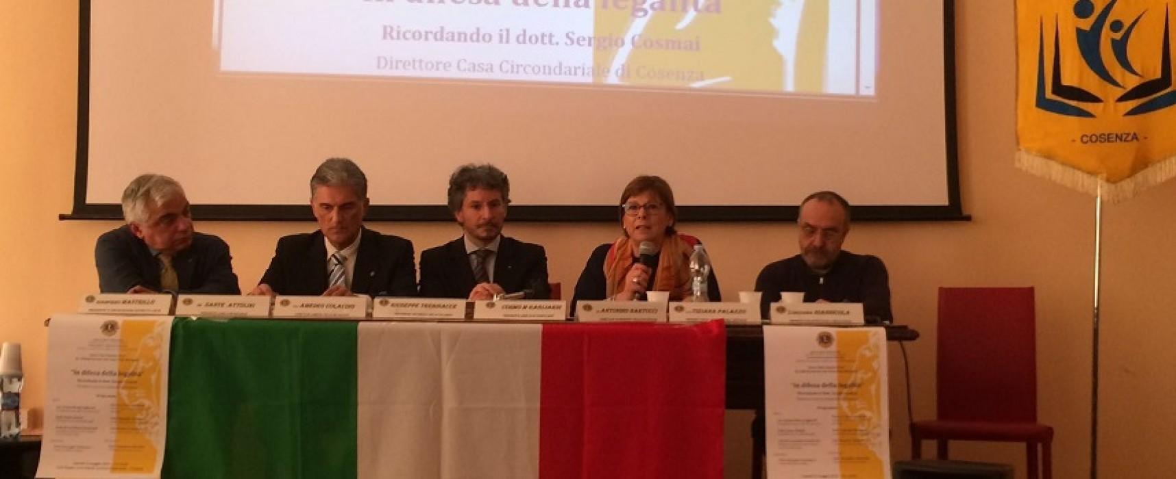 Il gruppo Lions a Cosenza per rendere omaggio a Sergio Cosmai