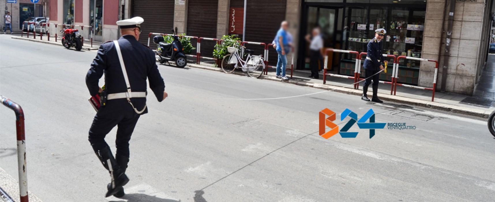 Grave incidente tra moto e bici in via Imbriani, morto un anziano biscegliese / FOTO