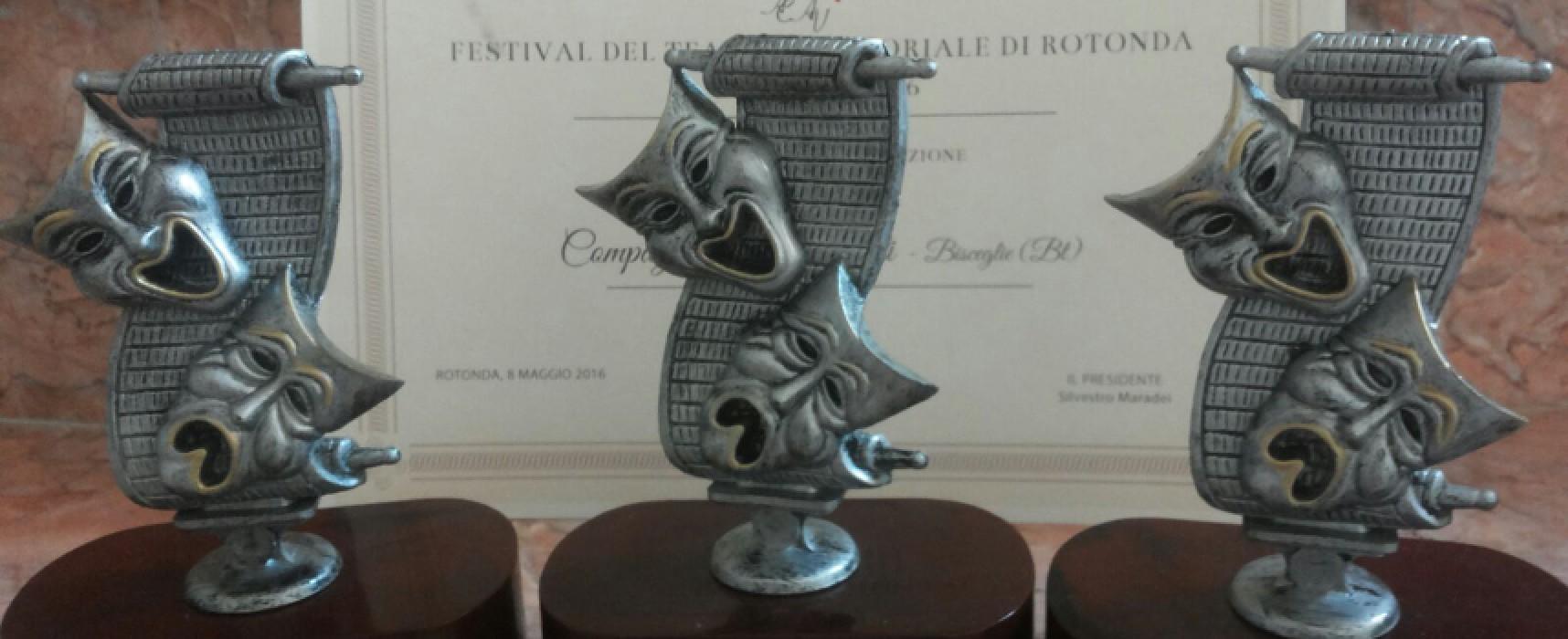 Tris di premi e valanga di nomination per la Compagnia dei Teatranti in Basilicata