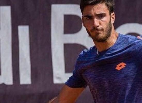 Andrea Pellegrino oggi in campo all'ATP Challenger di Perugia