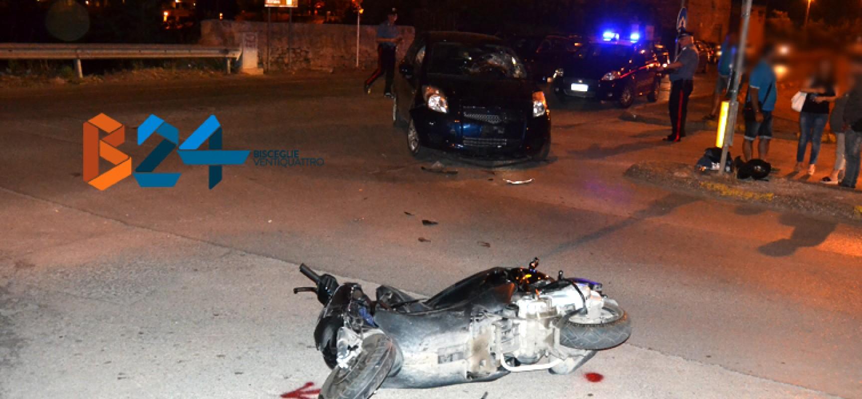 Incidente tra scooter e autovettura nel quartiere sant'Andrea, due ragazzi al pronto soccorso