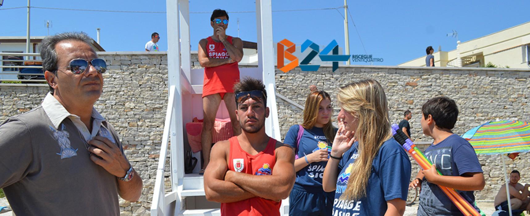 """Dal 1° luglio tornano i bagnini dell'associazione """"Baywatch"""" sulle spiagge libere biscegliesi"""
