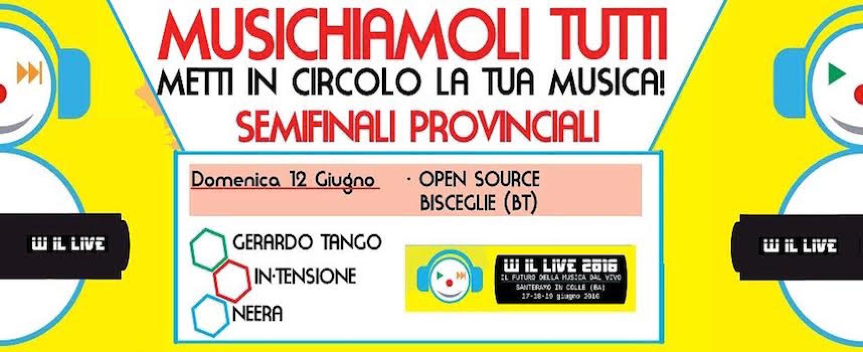 """Open Source, oggi la semifinale del contest musicale """"W il live"""""""