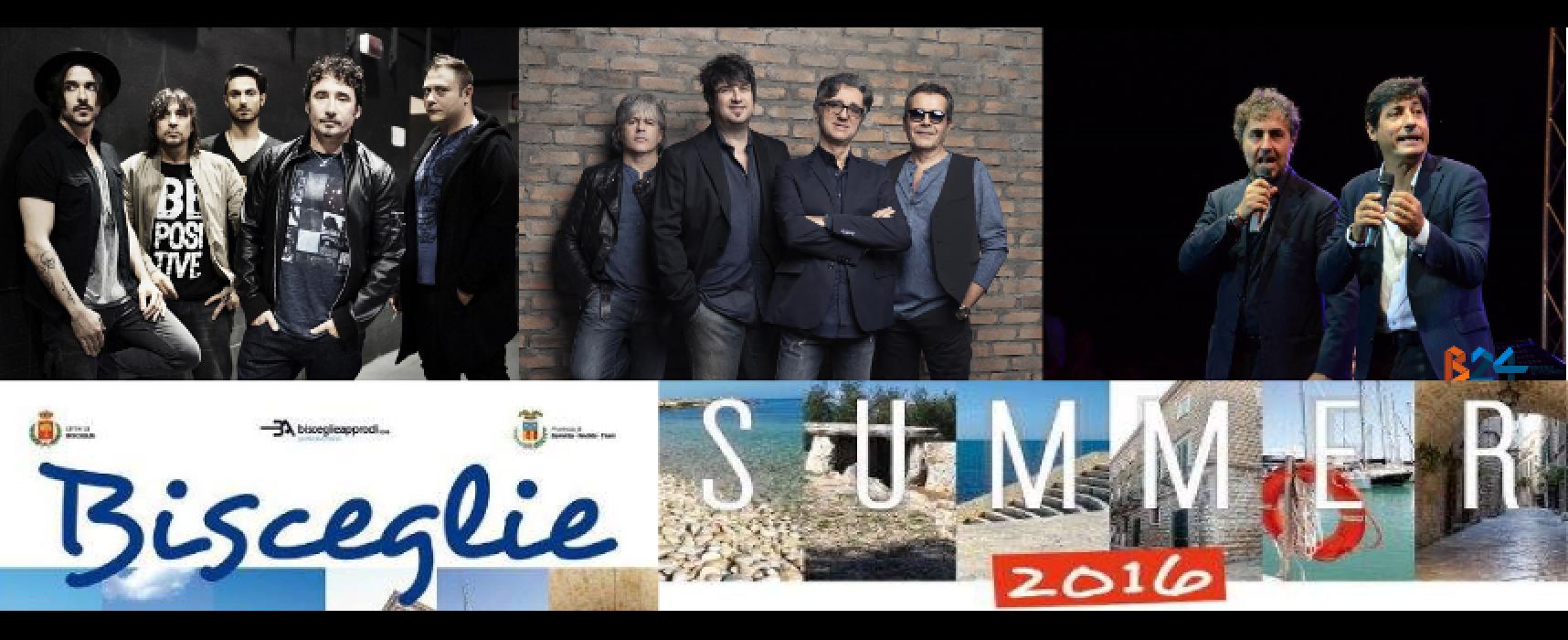 """Stadio, Tiromancino, Toti e Tata nella """"Bisceglie Summer 2016"""""""