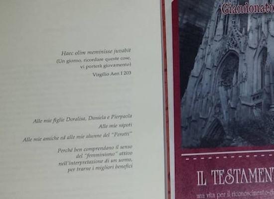 Dignità e identità femminile: ospite a Palazzo Tupputi lo scrittore Giandonato Disanto