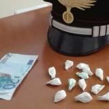 Beccato con 14 dosi di cocaina, arrestato pusher biscegliese in bici