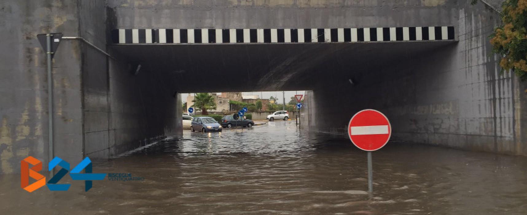 Maltempo su Bisceglie: disagi alla circolazione, ponti e strade allagate /FOTO