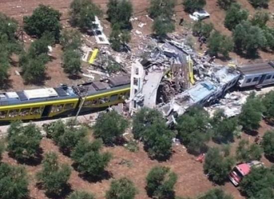 Tragedia ferroviaria, approvata proposta Boccia: 10 milioni di euro a feriti e famiglie vittime