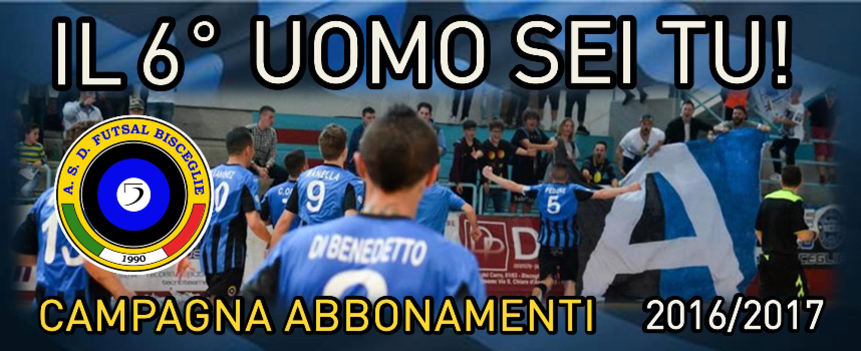 """""""Il 6° uomo sei tu!"""" Parte oggi la campagna abbonamenti del Futsal Bisceglie"""