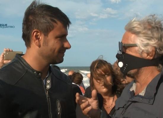Grillo mascherato a Torre Calderina per il no alla condotta sottomarina /INTERVISTA VIDEO