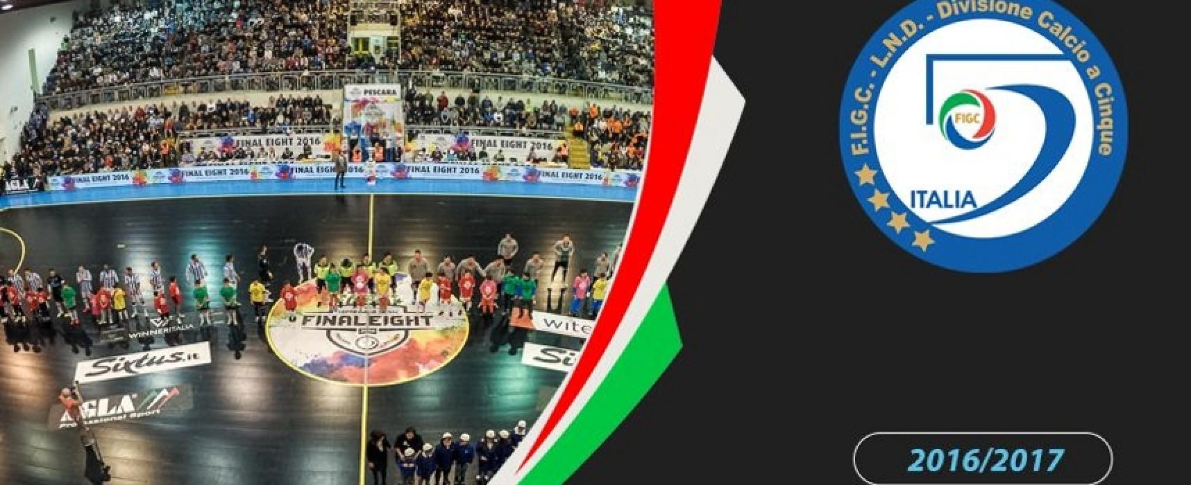 Calcio a 5: serie A Elite e serie A femminile, le avversarie di Arcadia e Futsal Bisceglie