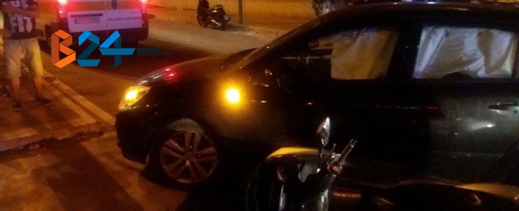 Scontro auto-moto in via san Martino, due ragazzi al pronto soccorso