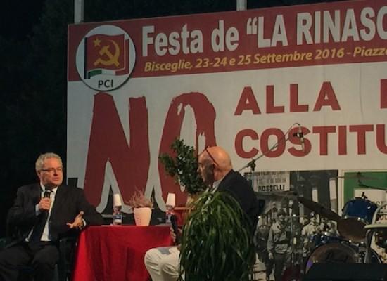 """Napoletano chiude la Festa de La Rinascita: """"Si lavori per coalizione di sinistra, anche con le primarie"""""""