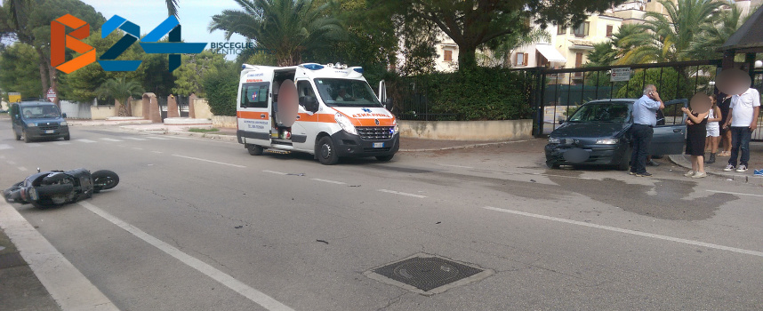 incidente tra auto e scooter su via sant andrea trasportato al pronto soccorso il motociclista. Black Bedroom Furniture Sets. Home Design Ideas