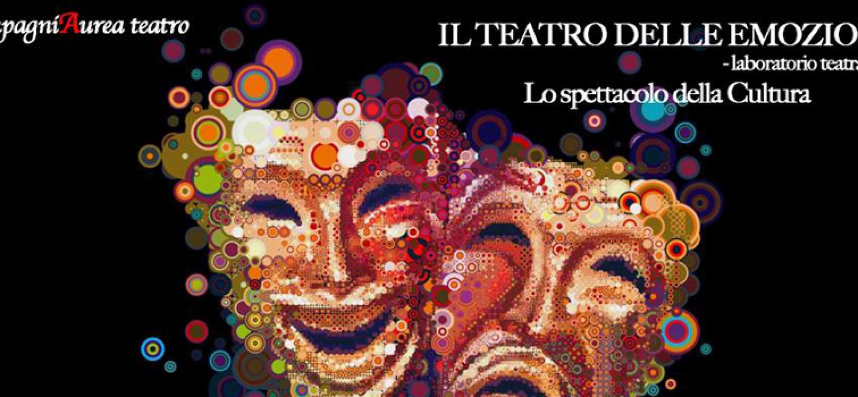 Ripartono i laboratori teatrali della CompagniAurea con Il teatro delle emozioni