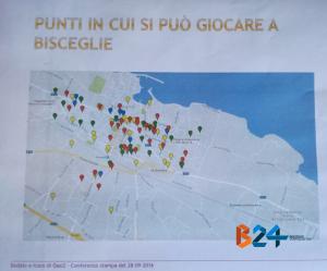 Tra i documenti presentati, anche una mappa delle sale da gioco a Bisceglie