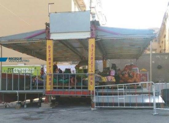 """Disposta cessazione immediata attività per giostra """"Disneyland"""" in zona Calvario"""