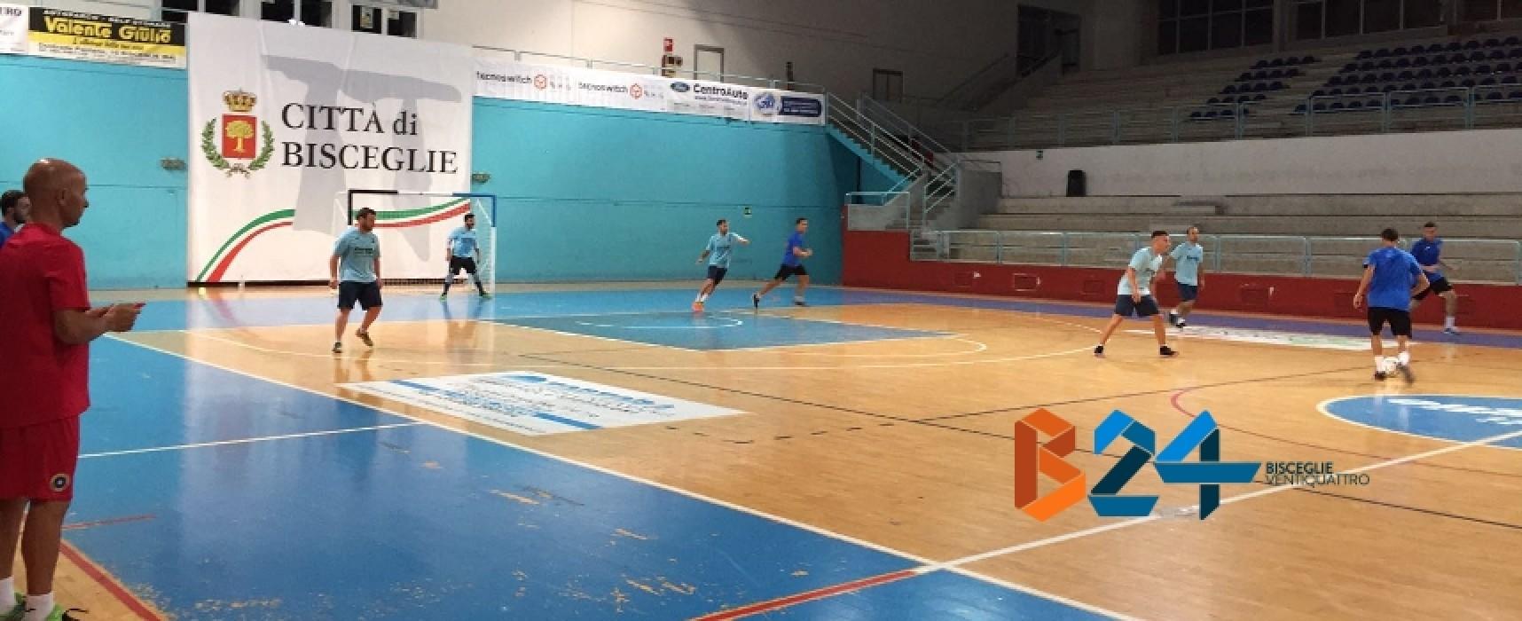 Futsal Bisceglie, ieri prima sgambata stagionale contro l'Under 21
