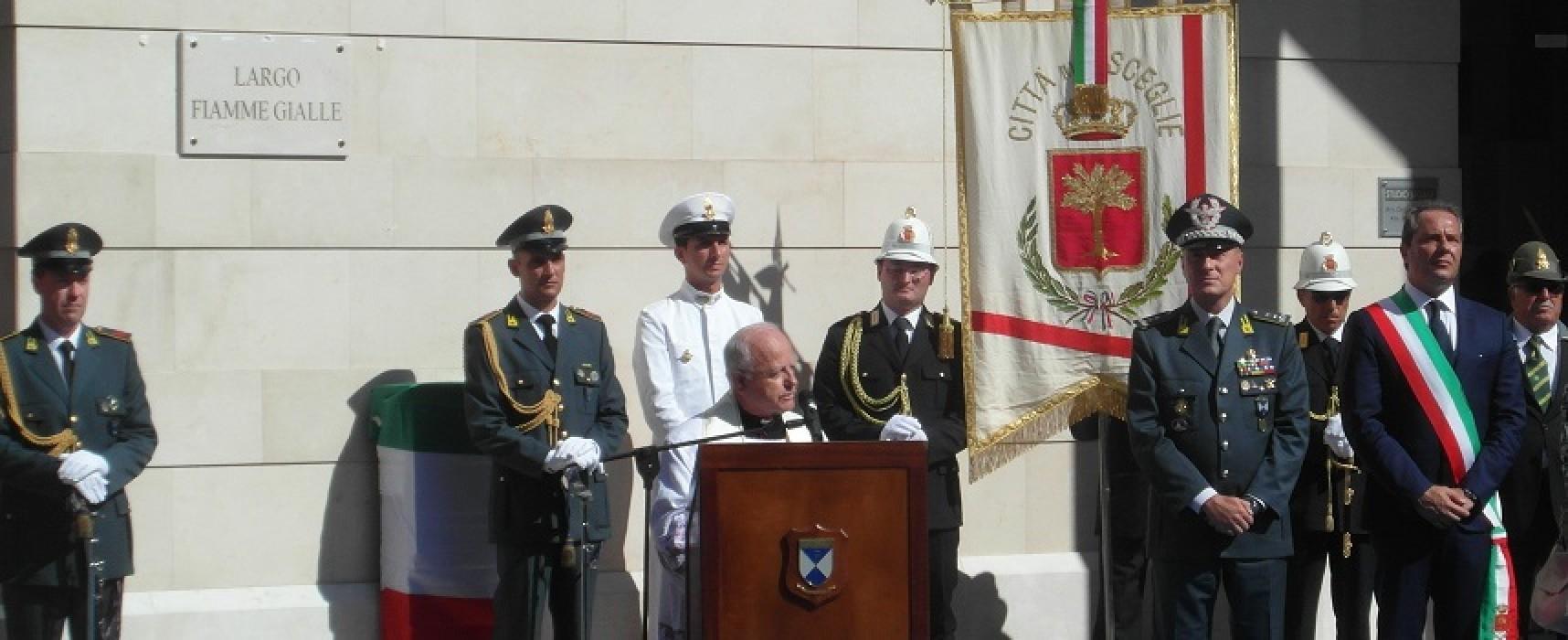 """""""Largo Fiamme Gialle"""", ieri l'inaugurazione della piazza / FOTO"""