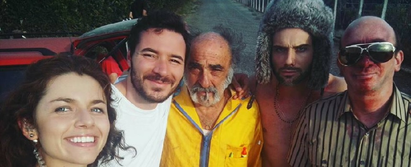 """Mauro Racanati al fianco di Alessandro Haber e Carlo de Ruggieri nel cortometraggio """"Insetti"""""""