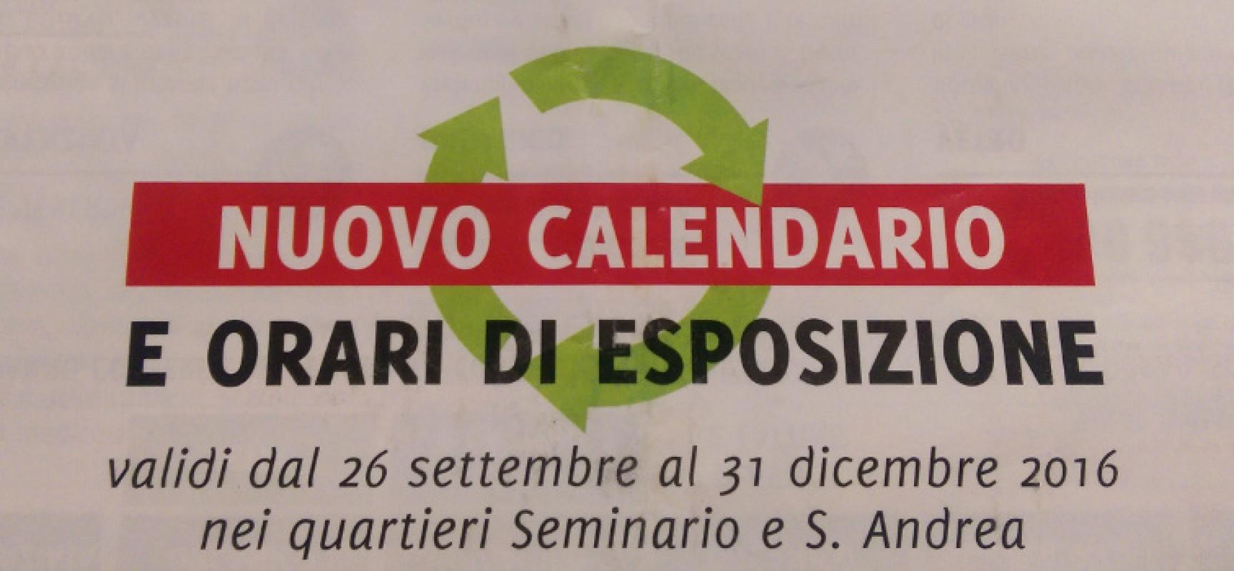 In Un Quartiere Di Una Citta Il Calendario Della Raccolta Differenziata.Raccolta Differenziata Porta A Porta Nuovo Calendario E