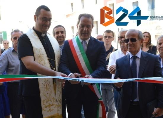 """Inaugurata Scuola """"Dino Abbascià"""", Spina: «Centro storico torna a essere polmone culturale» / FOTO"""