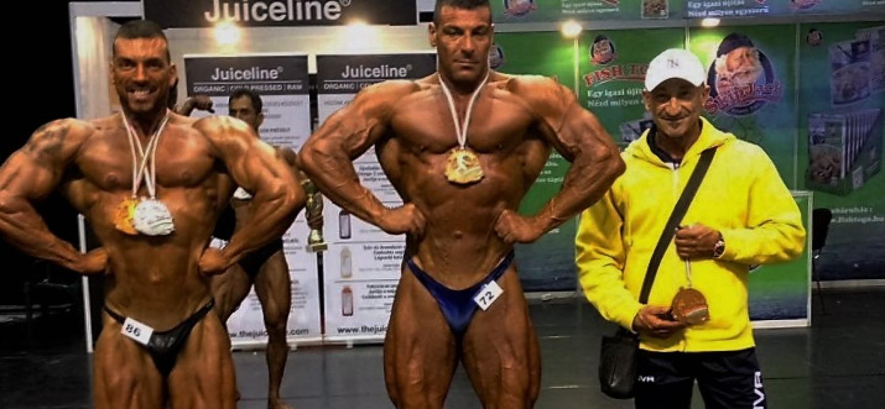 I body builder biscegliesi Pasquale Dell'Olio e Francesco Di Leo premiati alla FitParádé