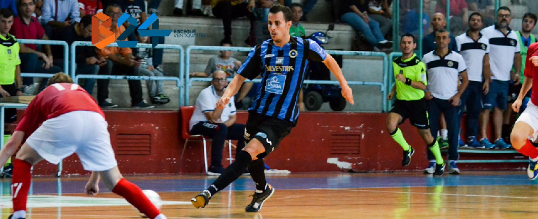 Futsal Bisceglie, cinque gol al Real Dem per chiudere il 2016 in bellezza
