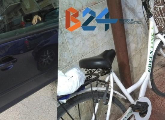 Colpito da portiera auto in sosta, ciclista biscegliese al pronto soccorso
