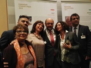 Rappresentanti di Pegaso con Martin Schulz, presidente dell'Europarlamento