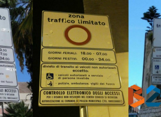 Segnaletica stradale errata ai varchi di accesso Ztl, sbagliati gli orari